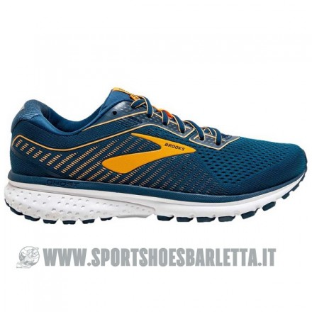 BROOKS GHOST 12 Poseidon/Grey/Orange