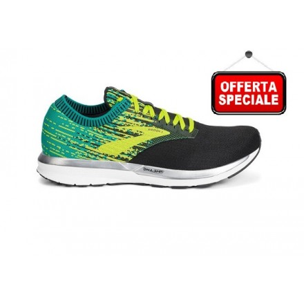 BROOKS RICOCHET BLACK/LIME/BLUE