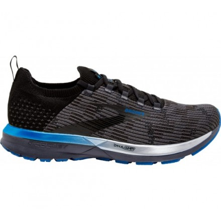 BROOKS LAUNCH 4 BLACK/ANTHRACITE/ELECTRIC BROOKS BLUE