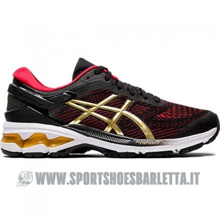 ASICS GEL KAYANO 26 donna BLACK/PURE GOLD
