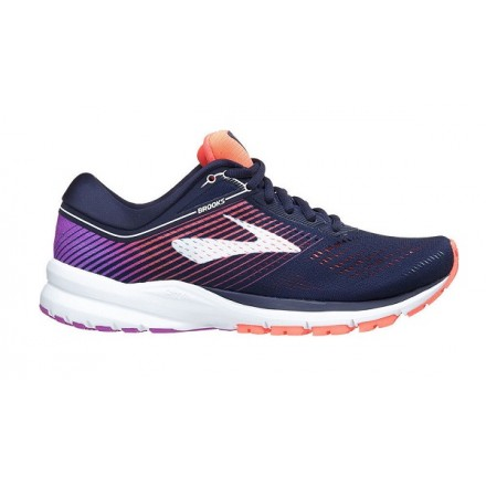 BROOKS LAUNCH 5 donna NAVY/CORAL/PURPLE