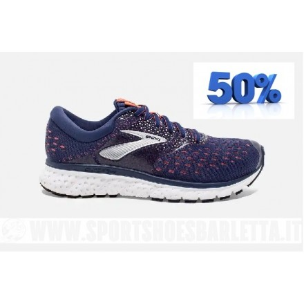 BROOKS GLYCERIN 16 NAVY/CORAL/WHITE