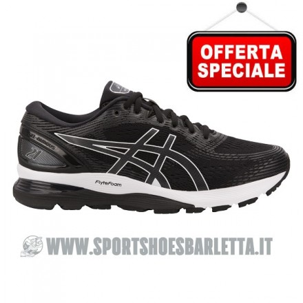 ASICS GEL NIMBUS 21 BLACK/WHITE