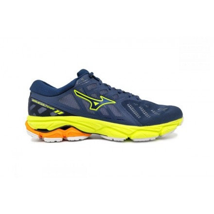 MIZUNO WAVE ULTIMA 11 BLUE/SAFETY YELLOW