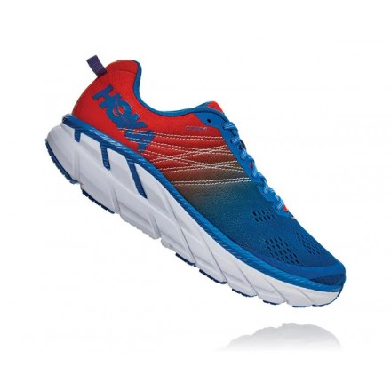 HOKA ONE ONE CLIFTON 6 RED/BLUE
