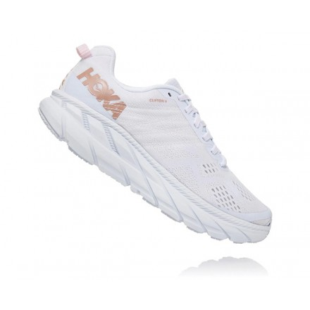 HOKA ONE ONE CLIFTON 6 donna WHITE/ROSE GOLD