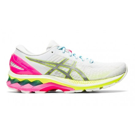 ASICS GEL KAYANO 27 LITE SHOW donna WHITE/PURE SILVER