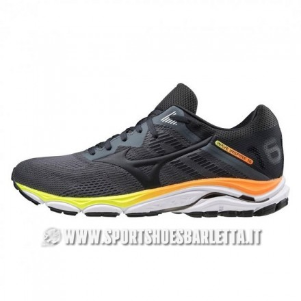 MIZUNO WAVE INSPIRE 16 UOMOCastelrock Phantom/Shocking Orange