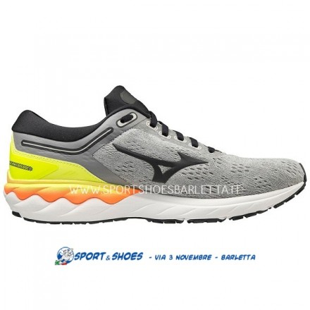 MIZUNO WAVE SKYRISE UOMOGREY/PHANTOM/YELLOW