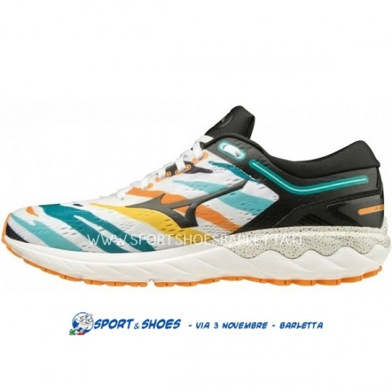 MIZUNO WAVE SKYRISE AMSTERDAMWHITE/BLACK/ORANGE