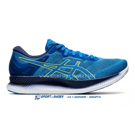 ASICS GlideRide UOMO DIRECTOIRE BLUE/LIME ZEST