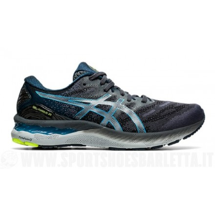 ASICS GEL NIMBUS 23 UOMO CARRIER GREY/DIGITAL AQUA