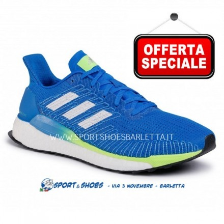 ADIDAS SOLARBOOST 19 UOMOBLUE/WHITE/GREEN