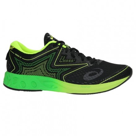 ASICS NOOSA FF BLACK/GREEN/SAFETY YELLOW T722N 9085