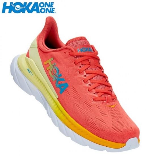Hoka One One Mach 4 UomoHot Coral/Saffron