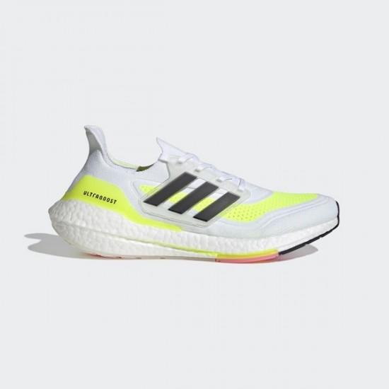 adidas ULTRABOOST 21White/ Black /Yellow