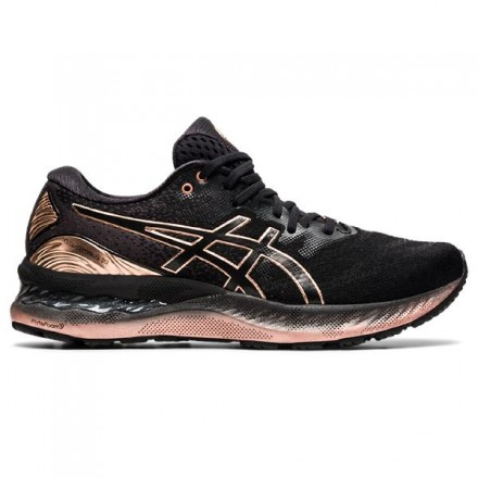 ASICS GEL-NIMBUS 23 PLATINUM BLACK/ROSE GOLD - DONNA