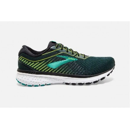 BROOKS GHOST 12 BLACK/LIME/BLUE
