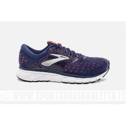BROOKS GLYCERIN 16 donna NAVY/CORAL/WHITE