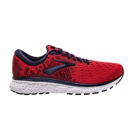 BROOKS GLYCERIN 17 RED/PEACOAT