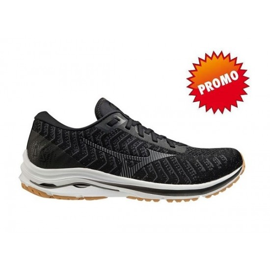 MIZUNO WAVE RIDER 24 WAVEKNITBLACK/DARKSHADOW/BISCUIT