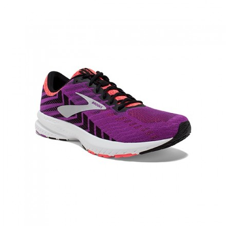 BROOKS LAUNCH 6 donna PURPLE/BLACK/CORAL