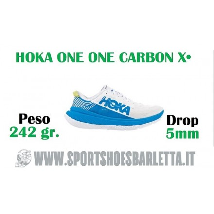 HOKA CARBON X WHITE/BLUE