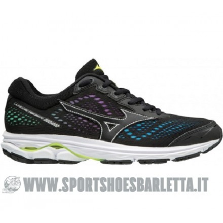 MIZUNO WAVE RIDER 22 donna OSAKA BLACK/YELLOW