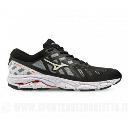 MIZUNO WAVE ULTIMA 11 BLACK/WHITE/TOMATO