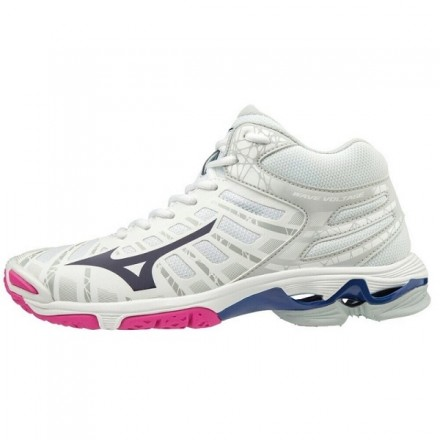 MIZUNO WAVE VOLTAGE MID donna WHITE