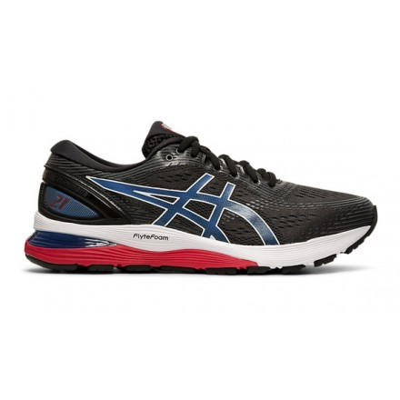 ASICS GEL NIMBUS 21 BLACK/ELECTRIC BLUE