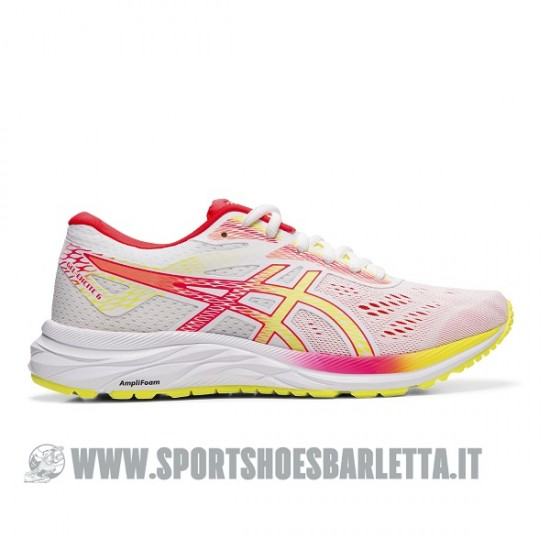 ASICS GEL EXCITE 6 donna WHITE/SOUR YUZU