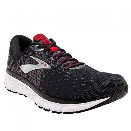 BROOKS GLYCERIN 17 BLACK/EBONY/RED