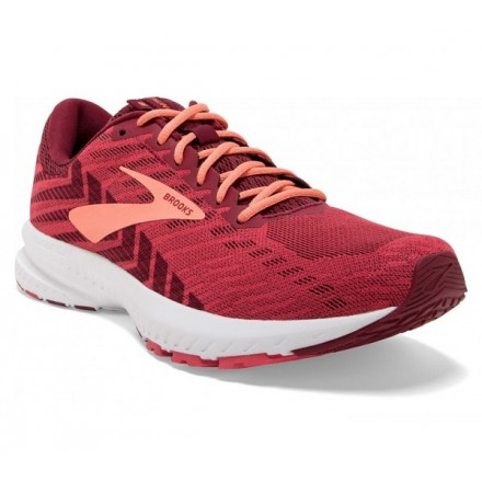 BROOKS LAUNCH 6 donna RUMBA RED