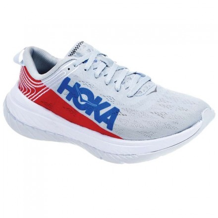 HOKA ONE ONE CARBON X GREY/RED