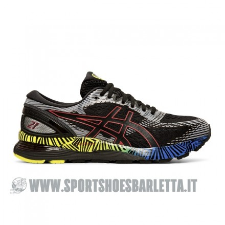 ASICS GEL NIMBUS 21 LS BLACK/ELECTRIC BLUE