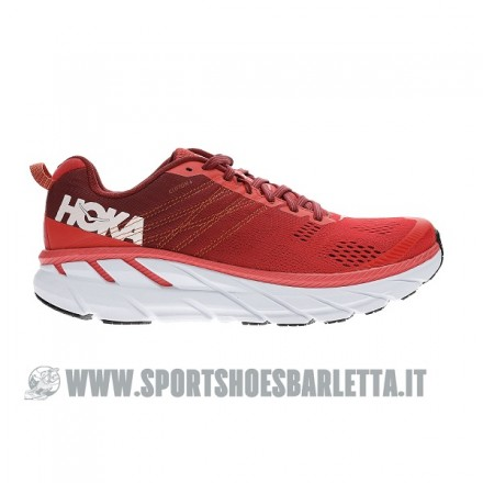 HOKA ONE ONE CLIFTON 6 RED