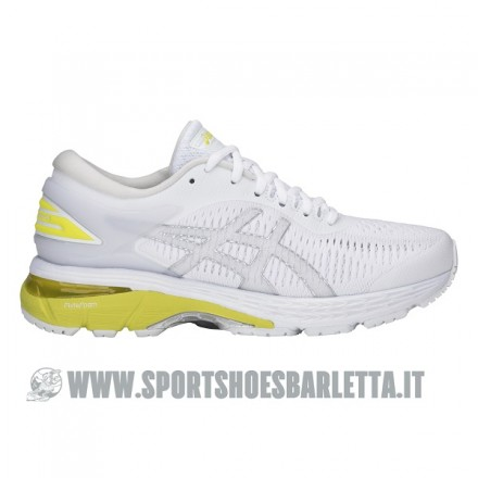ASICS GEL KAYANO 25 donna WHITE/LEMON